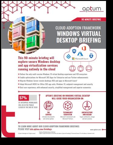 CAF Briefings - VirtualDesktop